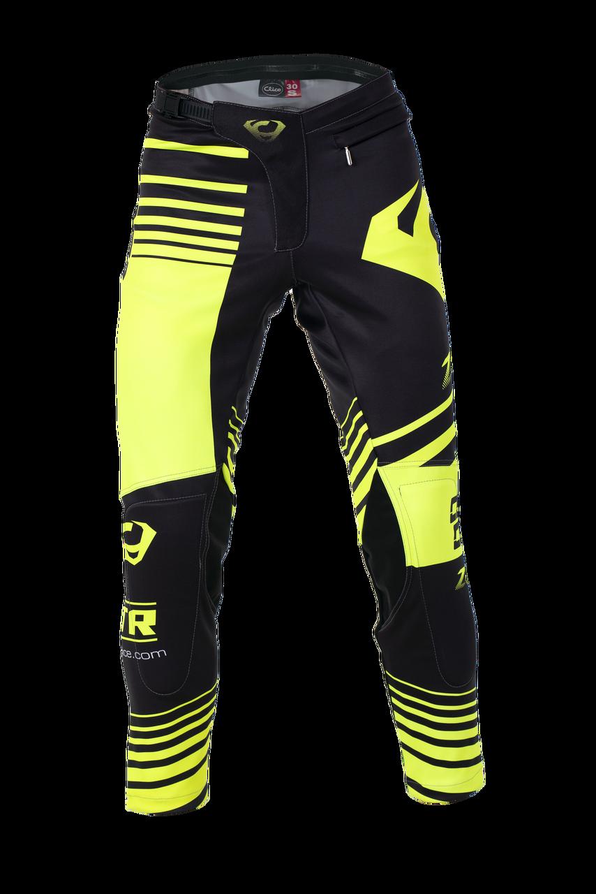 2019 Clice men's Zone trial pants, yellow/black
