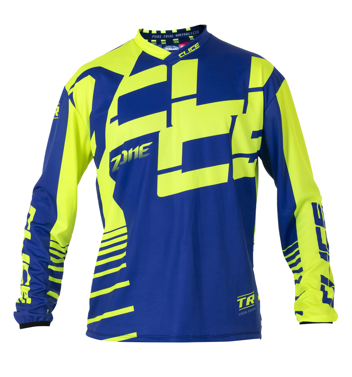 2019 Clice Zone men's jersey, blue/ yellow