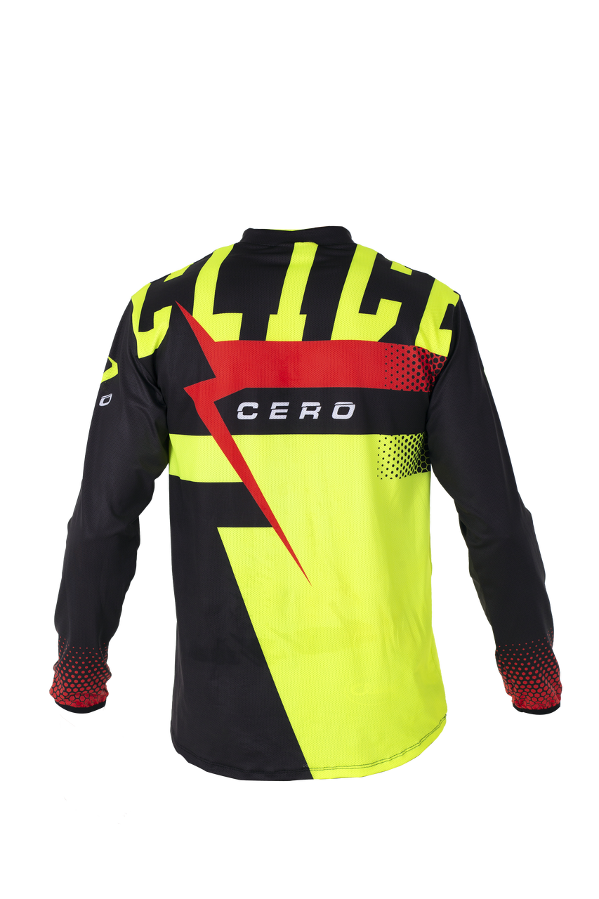 2019 Clice Cero Trial Jersey Men, Black/fluor