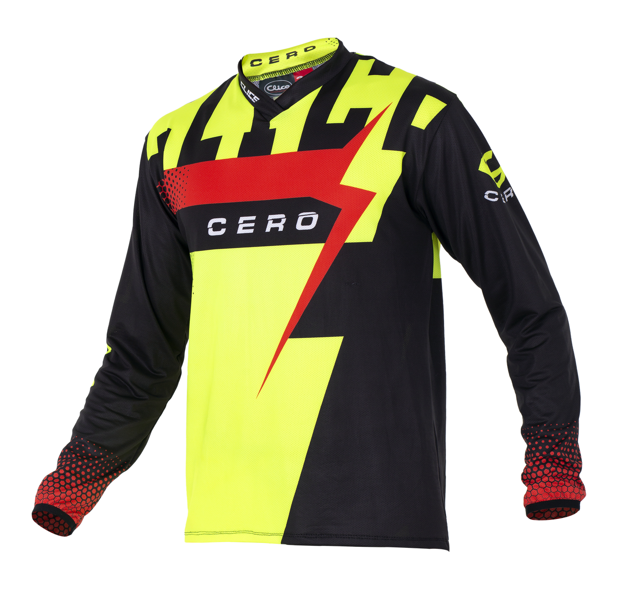2019 Clice Cero Trial Jersey Men, Black/fluor