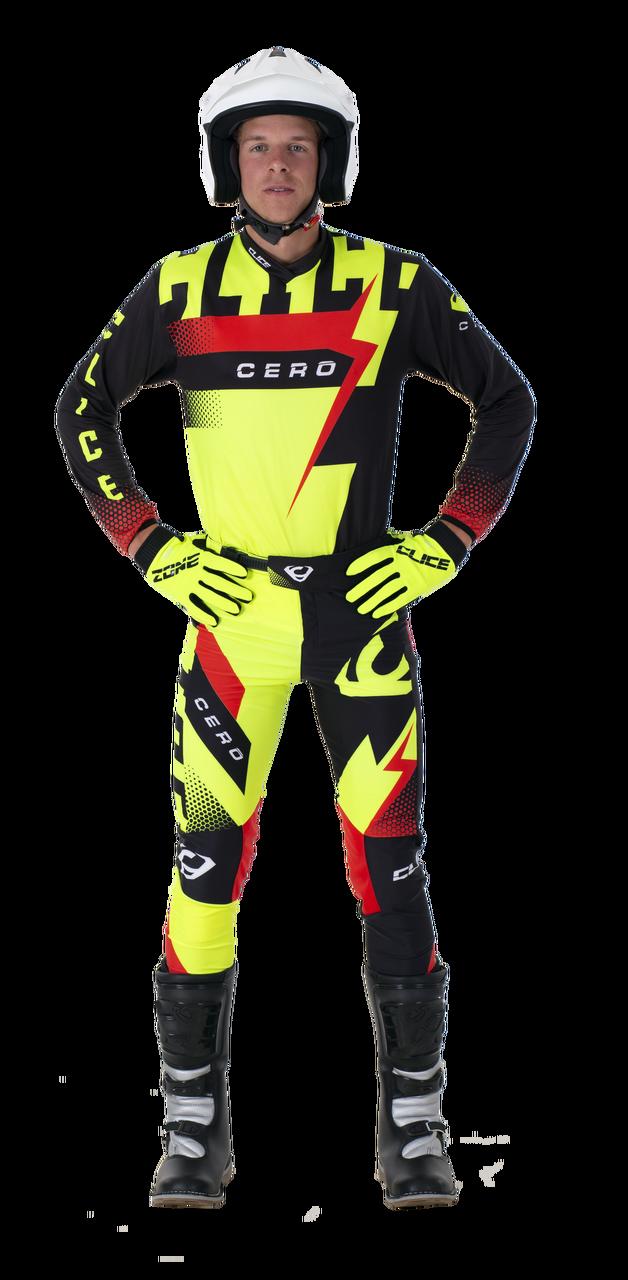 2019 Clice Cero Trial Jersey Men, Black/fluorf
