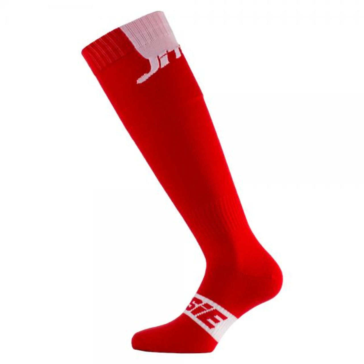 Jitsie long sock in red/ white