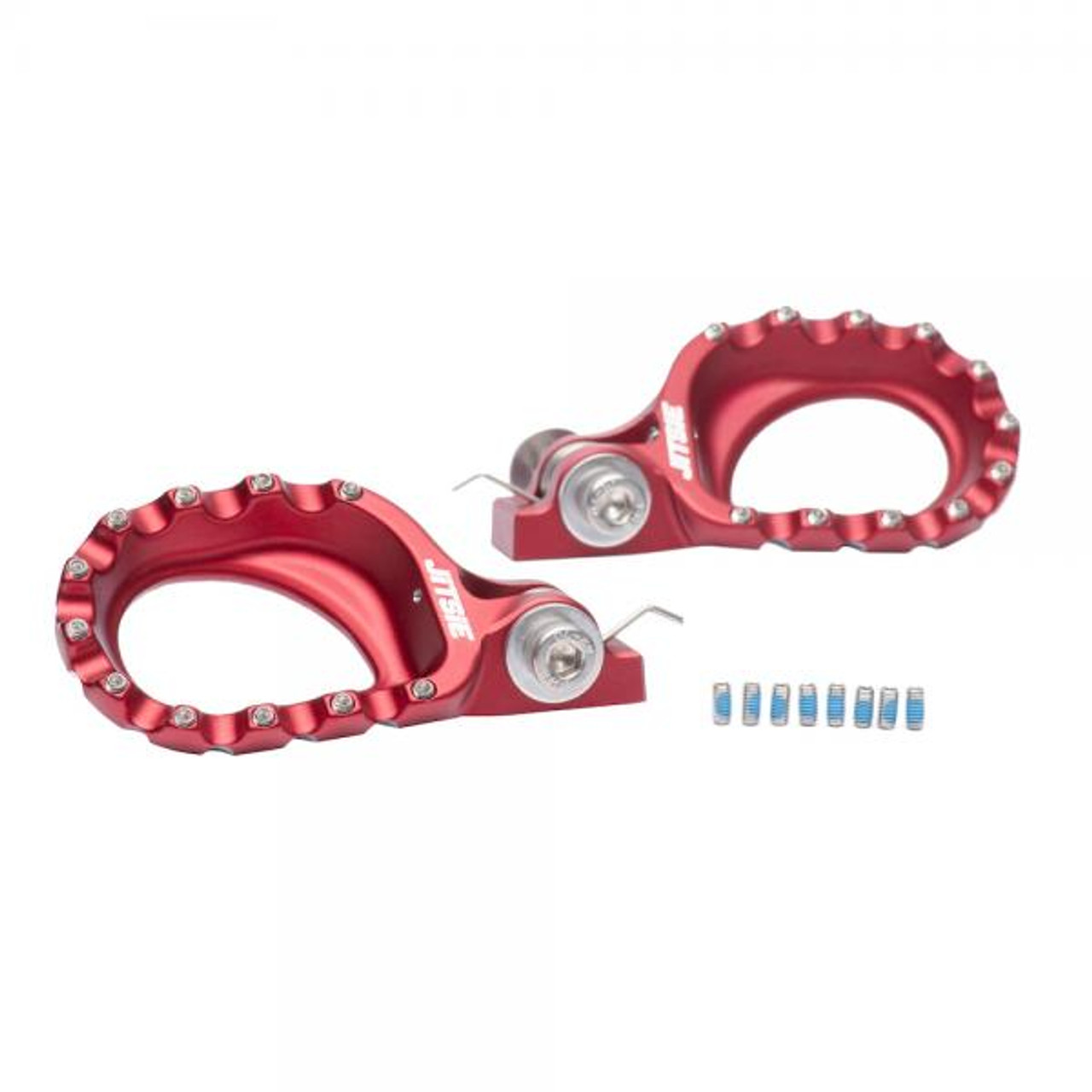 Lift foot pegs red