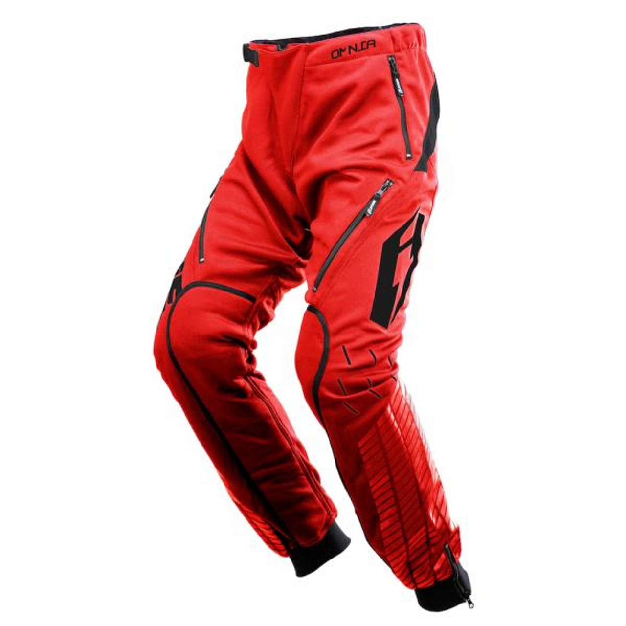Pants 01 Omnia Solid, red/black