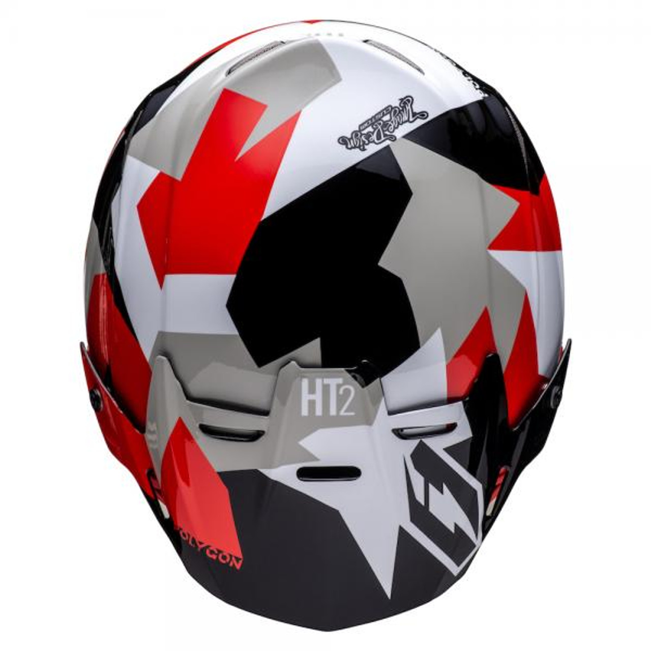 Helmet HT2 Polygon, black/red/white