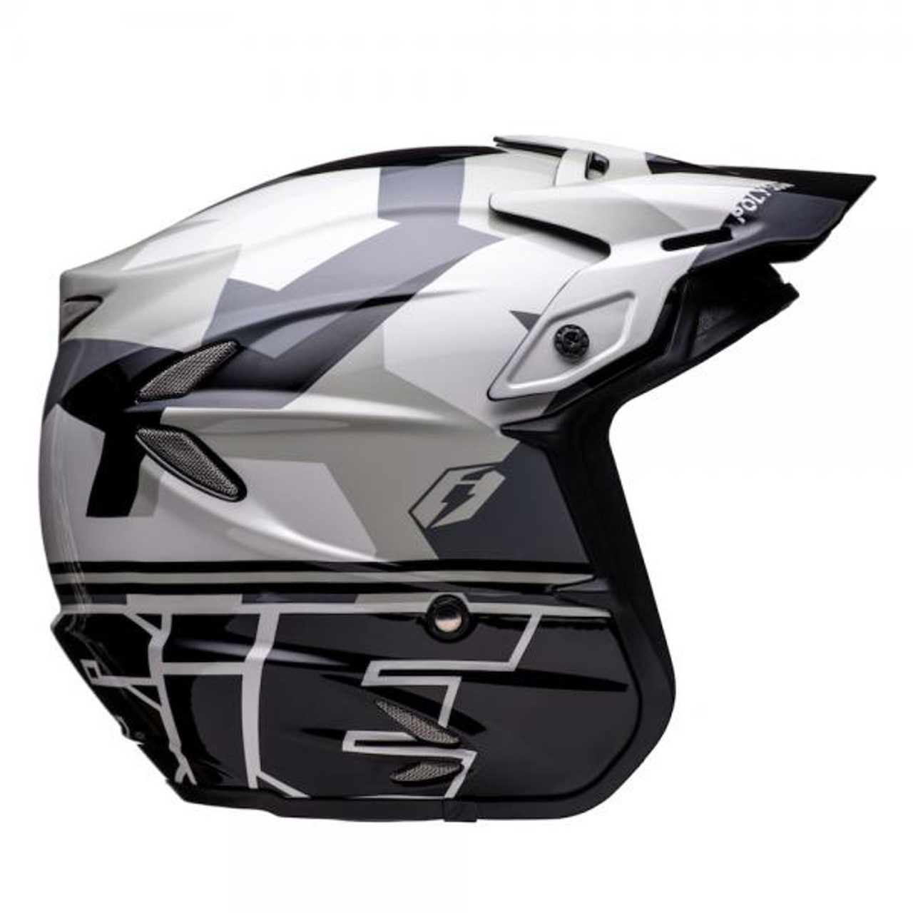 Helmet HT2 Polygon, black/silver/grey