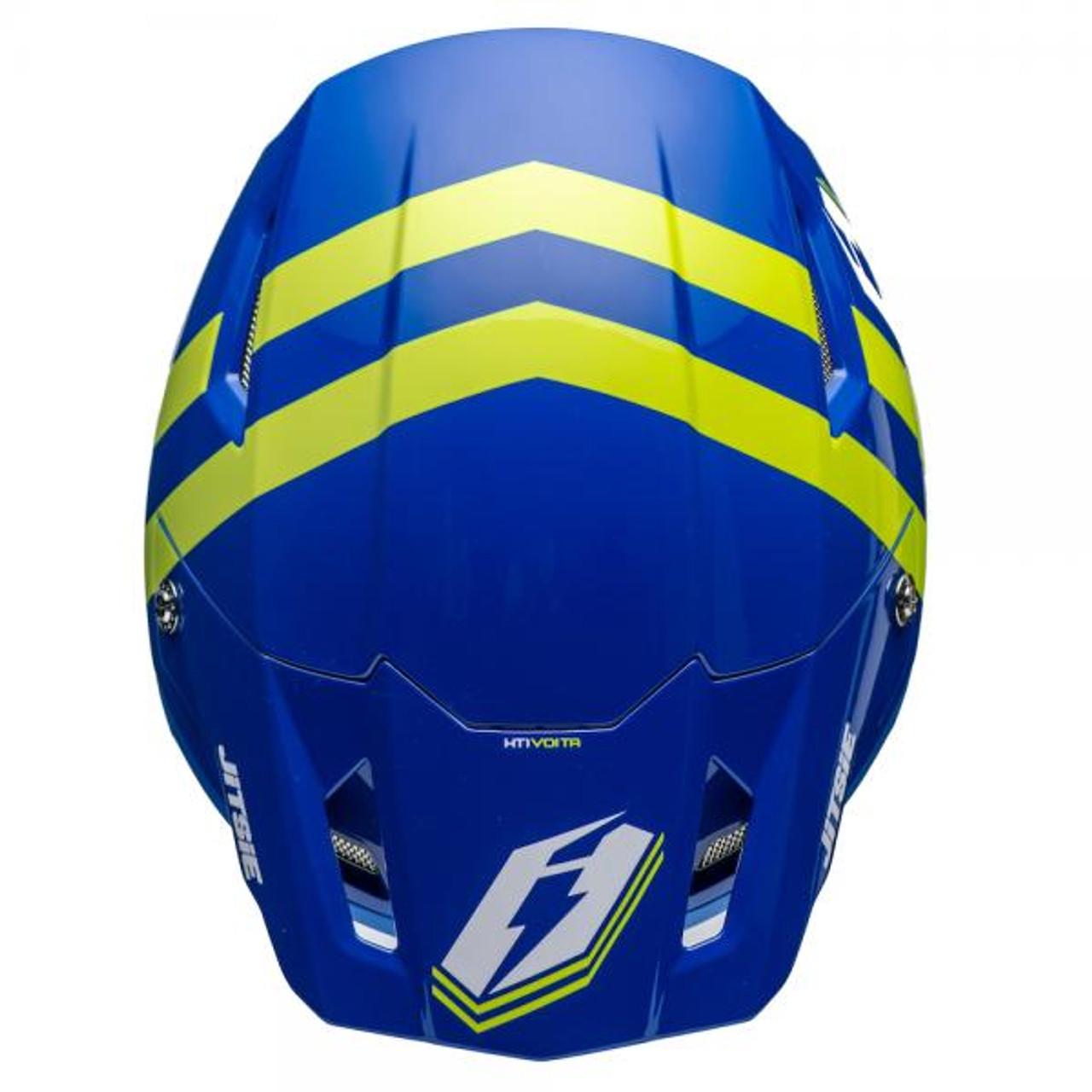 Helmet HT1 Voita, blue/ fluo yellow