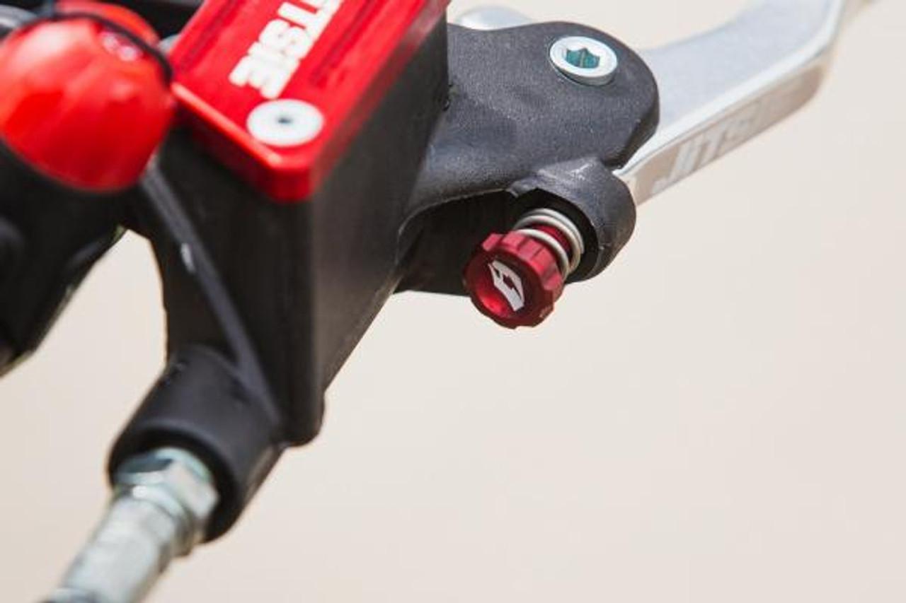 Lever adjuster Grimeca master cylinder, red