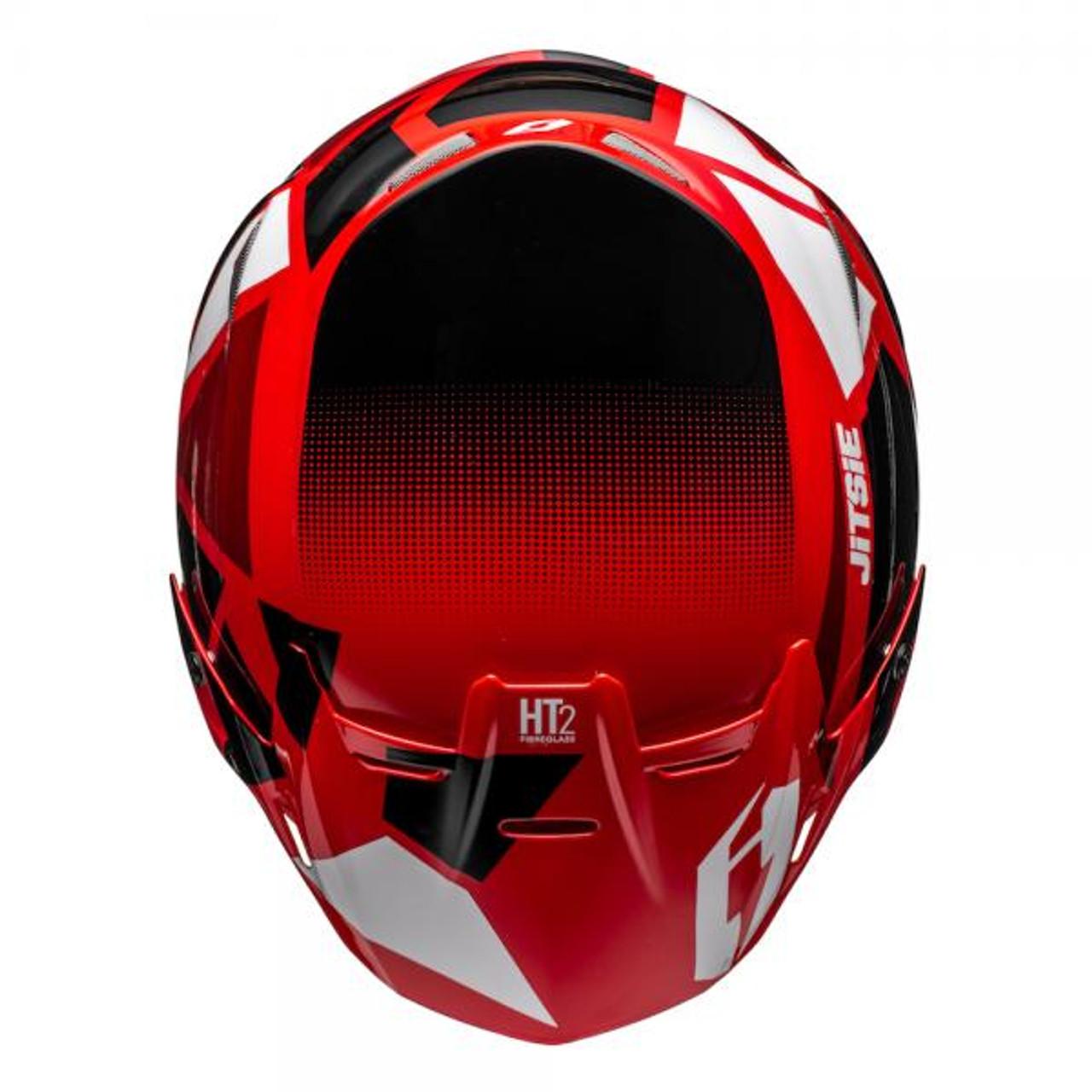 Helmet HT2 Kozmoz, red/ black, fiber glass
