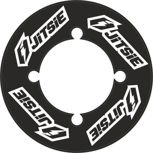 Rear sprocket sticker black