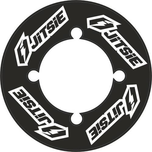 Rear sprocket sticker black