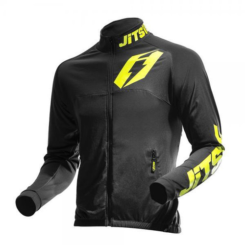 Jacket Signal Black/ Fluo Yellow front