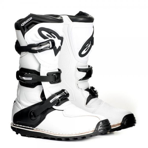 Alpinestars Tech T boots in white/ black
