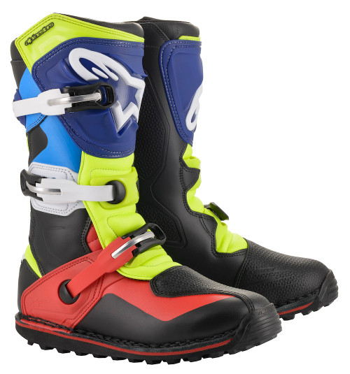 Alpinestars Boots Tech T - Black/Red/Blue/Fluo Yellow
