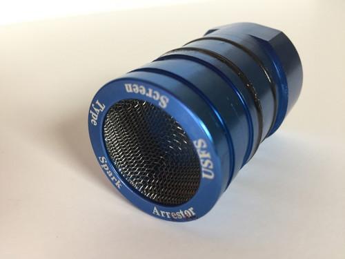Sherco/ scorpa spark arrestor insert front, blue