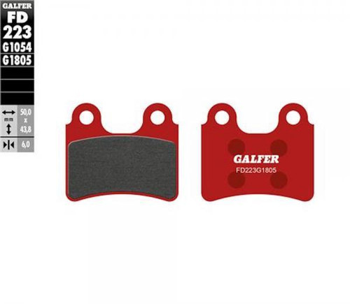 BPGFG1805-FD223 Brake pads front red, AJP/Braktec/Grimeca