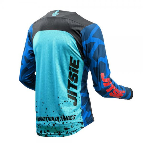 Jersey T3 Kroko blue/ red/ teal