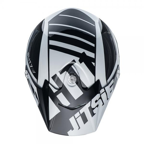HT1 helmet Blitz peak black/white