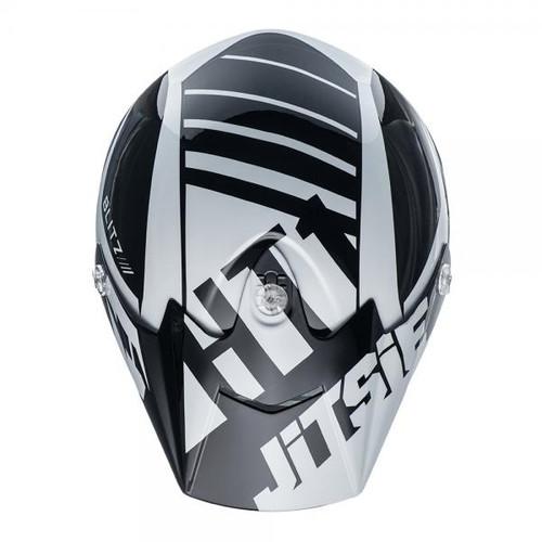 HT1 helmet Blitz peak black/white
