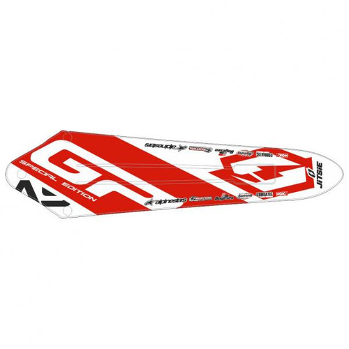 Rear Mud guard Sticker-Gas Gas Pro/Racing/Raga/Factory 11-18, white/red