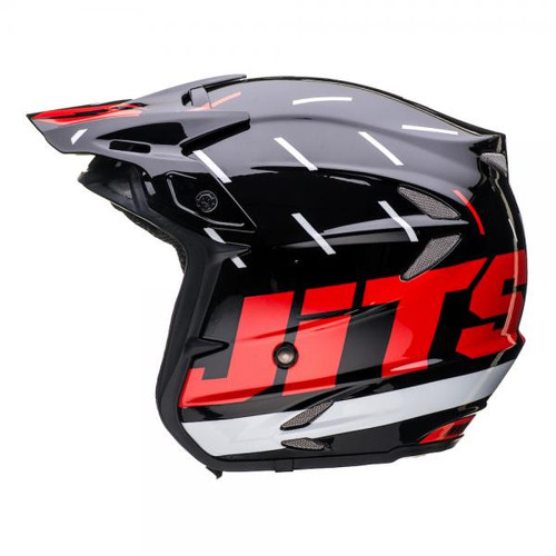 HT2 Domino helmet, black/red/silver