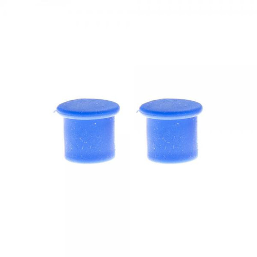 Tire valve caps blue