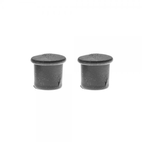 Tire valve caps black