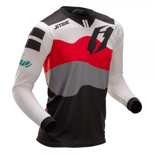 Jersey T3 Wave black/ red/ teal