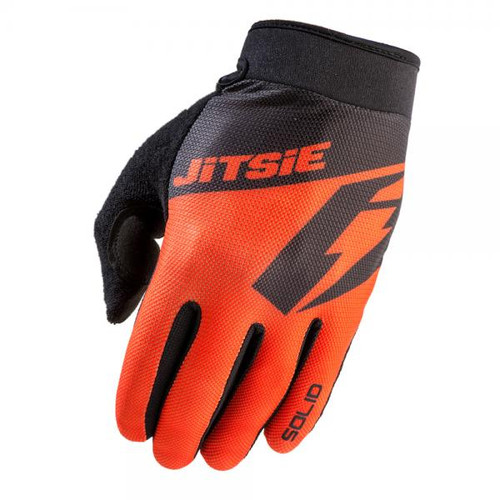 Trials gloves G2 solid, red/black