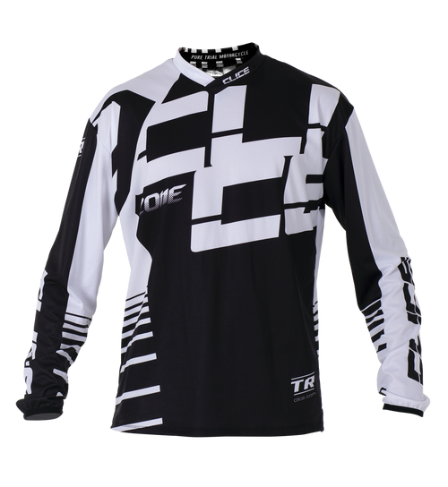 2019 Clice Zone men's jersey, white/black