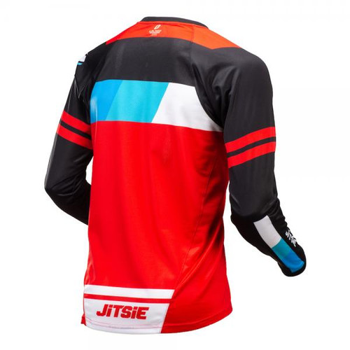Jersey L3 Linez, black/red/blue