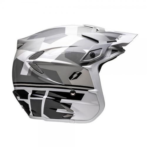 Helmet HT2 Polygon, white/ black/ grey