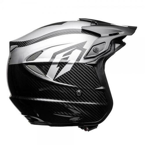 Helmet HT2 Carbon Solid for trials, black/ silver