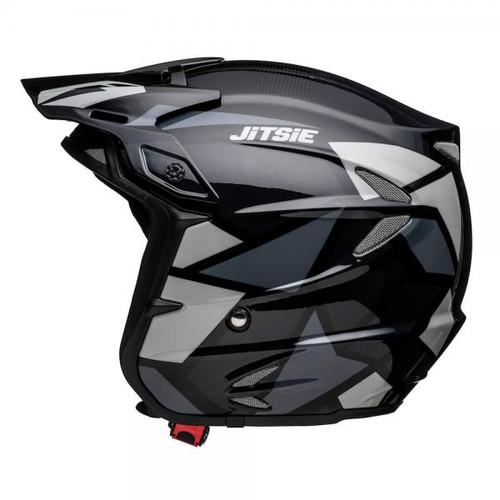 Helmet HT2 Kozmoz, black/ silver, fiber glass