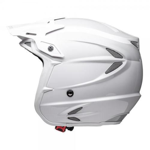 Helmet HT2 solid, white/ grey, fiberglass