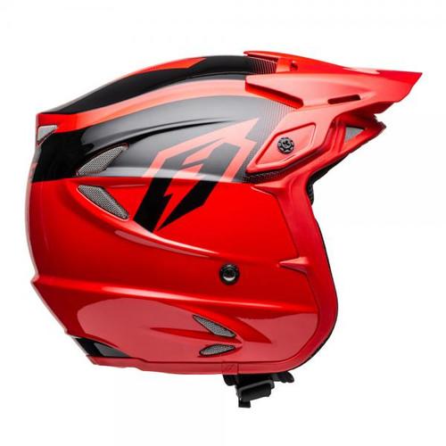 Helmet HT2 solid, red/ black, fiberglass