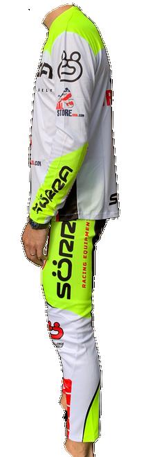 Pants TRS Racing white/ yellow