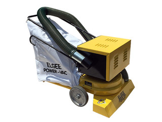 Elgee PowerVac 30 w/ Battery and Hose Litter Collector
