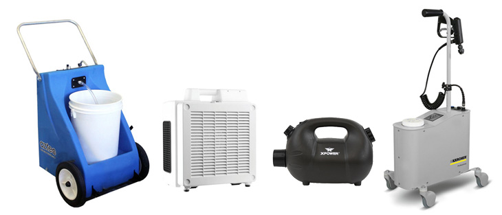 surface misters and air foggers on a white background