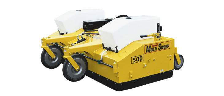 Attachment sweepers on a white background