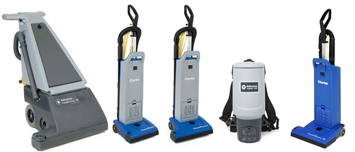 carpet vacuums on a white background