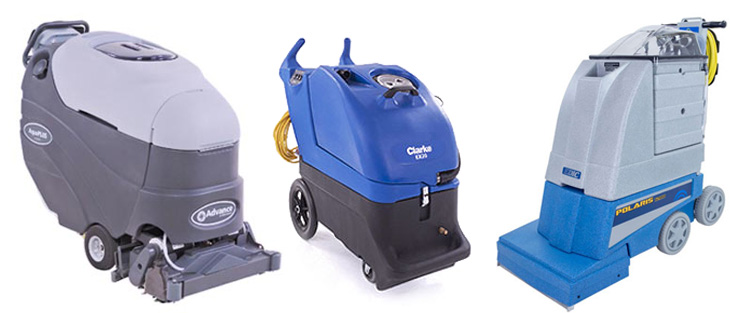 carpet extractors on a white background