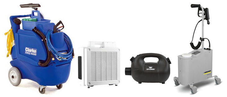Specialty cleaning equipment on a white background