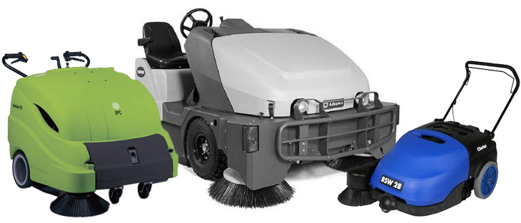 Floor Sweepers on a white background