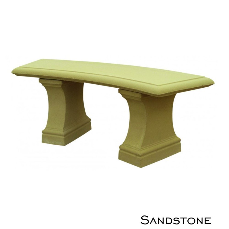 Sandstone Curved Bench Seat
