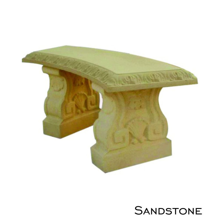 Sandstone Curved Bench Seat Pattern