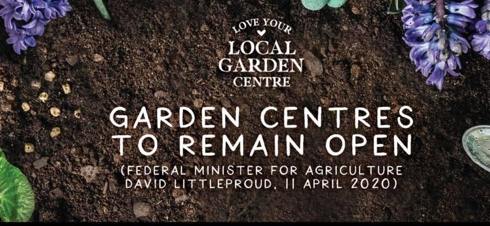 Garden Centres to stay open