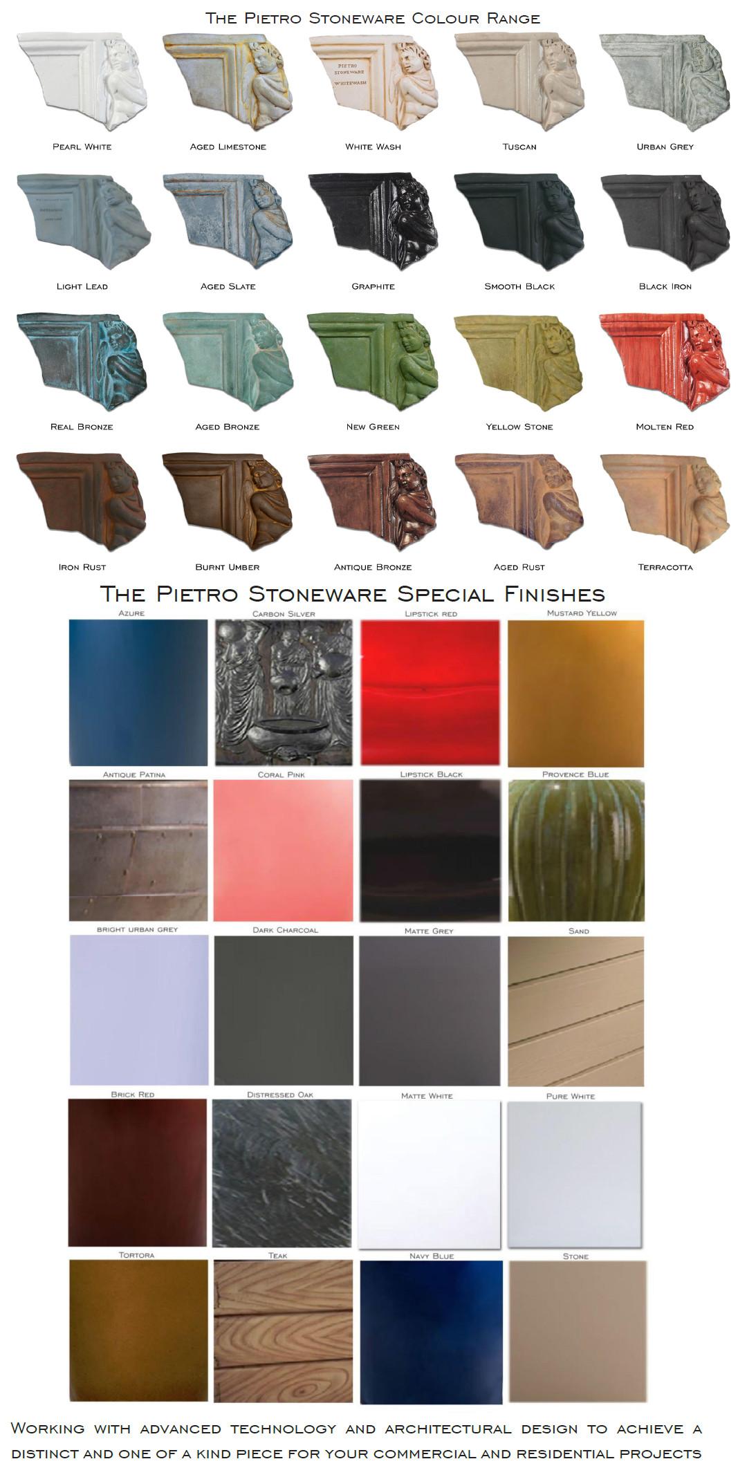 Pietro Standard and Premium Colour range