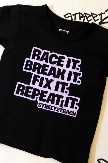 Race It Break It Fix It Repeat It - Girls