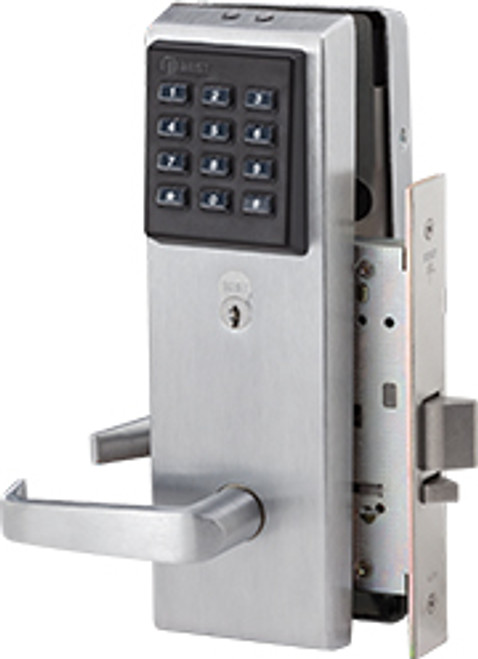 The EZ standalone electronic keypad lock is simple to operate, but actually it's masquerading as a one-door sophisticated access control system.